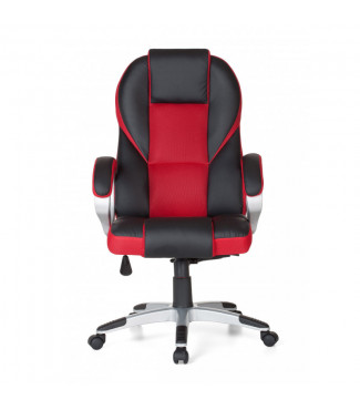 Amstyle Bürostuhl RACE Rot Gaming Chefsessel mit Armlehne