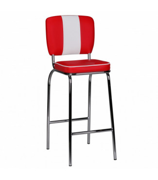 Wohnling Barstuhl American Diner 50er Jahre Retro Rot Weiß Home €83.97Wohnling -19%Home €83.97