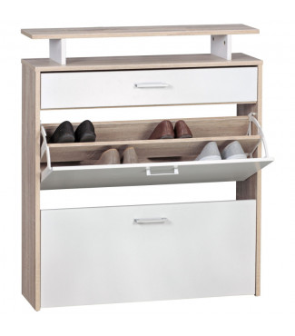 WOHNLING Schuhkipper Holz 80x95x24 cm Modern Sonoma Eiche Home €93.31Wohnling -19%Home €93.31