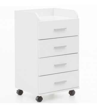 WOHNLING Rollcontainer 40 x 70,5 x 33 cm Weiß Home €59.20Wohnling -20%Home €74.01
