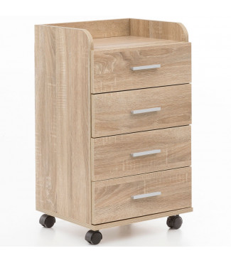 WOHNLING Rollcontainer 40x70,5x33cm Sonoma Home €60.62Wohnling -19%Home €60.62