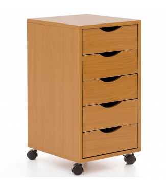 WOHNLING Rollcontainer 33x64x38cm Buche MDF-Holz Home 66,80€Wohnling -20%Home 83,50€